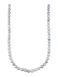 Akoya-Zuchtperlen-Collier Diemer Perle Grau