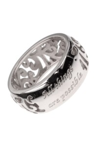 ALL THINGS POSSIBLE Ring Edelstahl