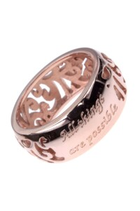 ALL THINGS POSSIBLE Ring rosé vergoldet