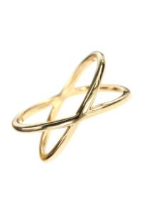 ALLIANCE X Ring vergoldet