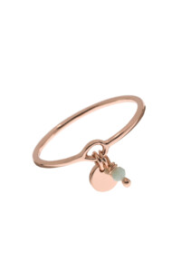 AMAZONIT Ring rosé vergoldet