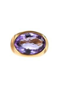 Amethyst Ring vergoldet