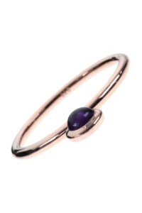 Amethyst Stacking Ring rosé vergoldet