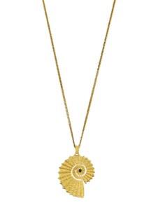 Ammonit-Anhänger mit Kette Ursula Christ Gelbgoldfarben