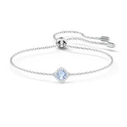 Angelic Cushion Armband, blau, rhodiniert
