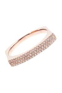 ANGULAR Roségold Ring Diamanten