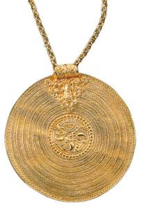 Anhänger 'Brakteat aus Gotland' mit Halskette, Collier, Schmuck
