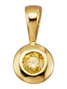 Anhänger Diemer Diamant Gelb