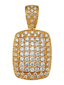Anhänger Diemer Diamant Gelbgoldfarben
