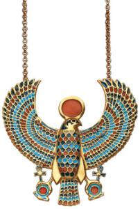 Anhänger 'Falken-Pektoral des Tutanchamun' mit Kette, Collier, Schmuck