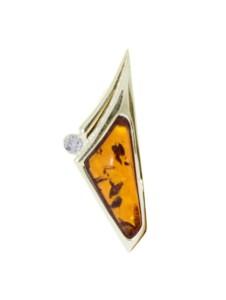 Anhänger – Gleiter-Agneta – Gold 585/000 – Bernstein/Brillant OSTSEE-SCHMUCK gelb