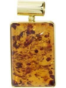 Anhänger Gleiter-Classic 14×21 mm Gold 333/000 Bernstein OSTSEE-SCHMUCK gelb