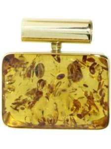 Anhänger Gleiter-Classic 21×14 mm Gold 333/000 Bernstein OSTSEE-SCHMUCK gelb