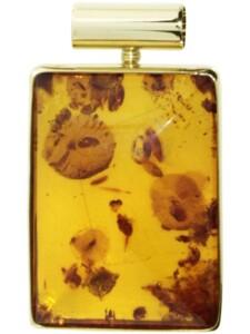 Anhänger Gleiter-Classic 28×20 mm Gold 333/000 Bernstein OSTSEE-SCHMUCK gelb