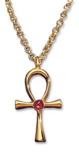 Anhänger 'Glück bringendes Anch-Kreuz' mit Halskette