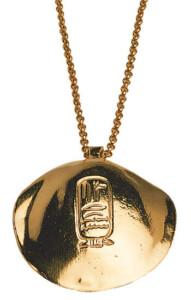 Anhänger 'Goldene Muschel des Königs Sesostris' mit Halskette, Collier, Schmuck