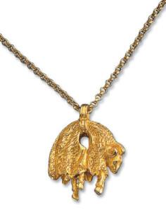 Anhänger 'Goldenes Vlies' mit Halskette, Collier, Schmuck