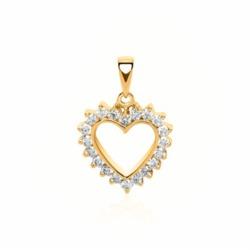 Anhänger Herz 585er Gold 20 Diamanten