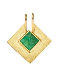Anhänger mit Roh-Smaragd Diemer Farbstein Grün