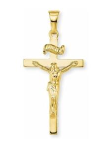 Anhänger Unisex aus Gold 585/14 ct, Kreuz amor Gold