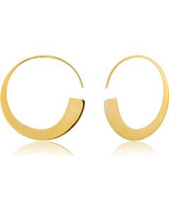 Ania Haie Damen-Creole Gerometry Slim Hoop Earring 925er Silber