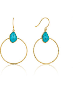 Ania Haie Damen-Creole Turquoise Front Hoop 925er Silber