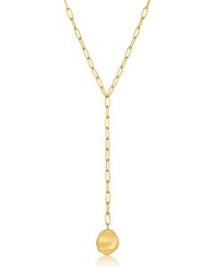 Ania Haie Damen-Kette Crush Disc Y Nacklace 925er Silber