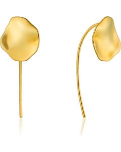 Ania Haie Damen-Ohrhänger Crush Disc Solid Drop Earrings 925er Silber