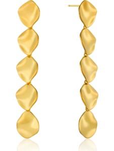 Ania Haie Damen-Ohrhänger Crush Multiple Discs Earrings 925er Silber Ania Haie gold