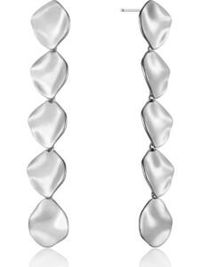 Ania Haie Damen-Ohrhänger Crush Multiple Discs Earrings 925er Silber Ania Haie silber