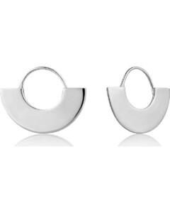 Ania Haie Damen-Ohrhänger Geometrie Fan Hoop Earring 925er Silber