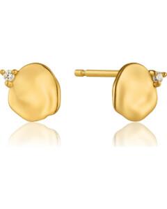 Ania Haie Damen-Ohrstecker Crush Disc Stud Earrings 925er Silber Zirkonia