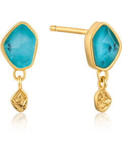 Ania Haie Damen-Ohrstecker Turquoise Drop Stud 925er Silber