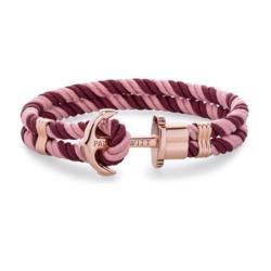Ankerarmband Phrep aus Nylon in Berry Rosé