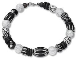 Anna Mütz: Collier 'Black & White', Schmuck, Schmuck
