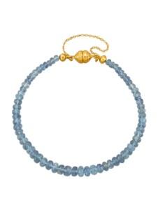 Aquamarin-Armband Diemer Farbstein Blau