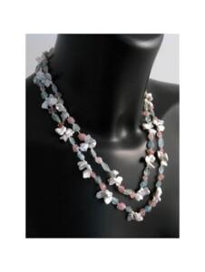 Aquamarin Halskette 1001 Diamonds blau