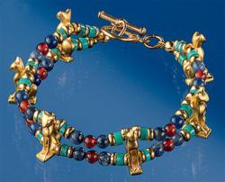 Armband 'Ägyptische Bastetkatze', Schmuck