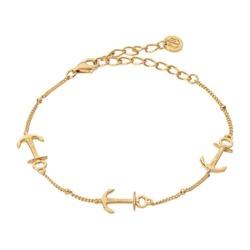 Armband Anchor für Damen aus Sterlingsilber, gold