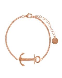 Armband Anchor Spirit aus rosévergoldetem 925 Sterling Silber