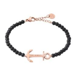 Armband Anchor Spirit für Damen, rosé schwarz