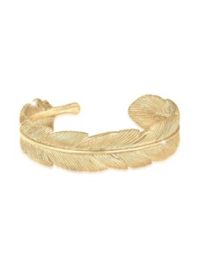 Armband Armreif Bangle Feder Boho 925 Sterling Silber Elli Premium Gold