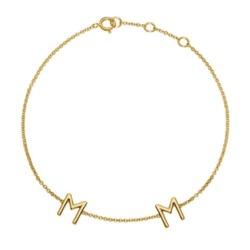 Armband aus 585er Gold mit 2 Buchstaben oder Symbolen