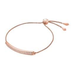 Armband aus rosévergoldetem Sterlingsilber Zirkonia