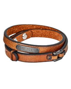 Armband Coiled aus Leder & Edelstahl