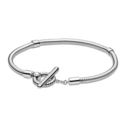 Armband für Damen aus Sterlingsilber mit T-Verschluss