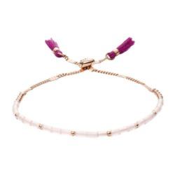 Armband für Damen Rosenquarz und Edelstahl, rosé