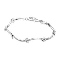 Armband Gänseblümchen aus 925er Silber mit Zirkonia