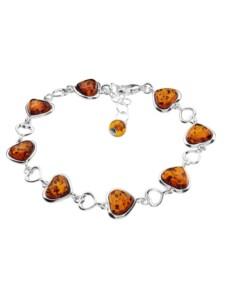 Armband – Herz – Silber 925/000 – Bernstein OSTSEE-SCHMUCK silber