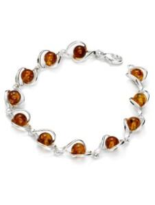 Armband – Isabella – Silber 925/000 – Bernstein OSTSEE-SCHMUCK silber